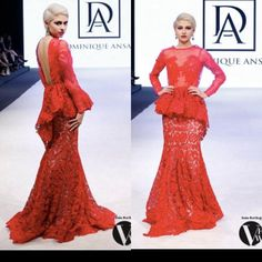 Red lace beautiful Gown