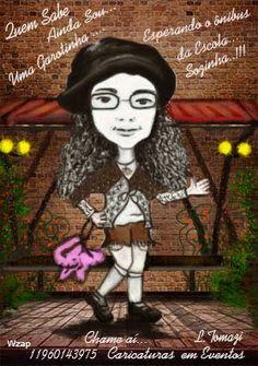 caricaturas em evento: Quem sabe ainda sou uma garotinha .....