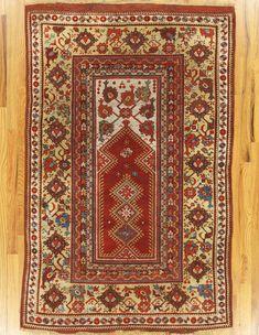 "Milas prayer rug,South West Anatolia, circa 1870.Dimensions of the piece 5'.5""x3'.6"" (165x107 cm). | Hagop Manoyan, New York"