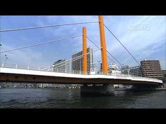 """[ from Japan to the World ] A series of """"Tokyo River Cruise"""".  [Day Cruising 4]   Sumida River  Tsukiji Market  (Tokyo Metropolitan Central Wholesale Market)  Kachidoki Bridge  St.Luke's Garden  Tsukuda-ohashi Bridge  Tsukuda Park  Okawabata River City 21  Chuo-ohashi Bridge  Eitai Bridge  Toyomi Bridge  Nihonbashi River  IBM Hakozaki Building  Metropolitan Expressway Route 9 Fukagawa line  Sumidagawa-ohashi Bridge  RIVERSIDE YOMIURI  Kiyosu Bridge  Mannen Bridge  Onagi River  Shin-ohashi…"""