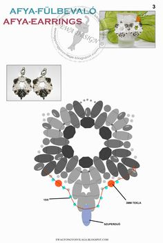 ~Excellent image of different increasing methods with Two-Hole Seed Beads (Duo's)~ Afya earrings