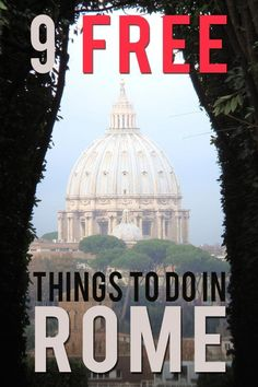 How to see Rome Italy on a budget? I list my 9 favorite FREE things to do in Rome with practical tips on what to see and do that will not cost you any money. Italy Travel Tips, Rome Travel, Budget Travel, Travel Europe, Europe Destinations, Positano, Amalfi, Free Things To Do In Rome, Italy Holidays