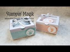 First Steps Baby Gift Box ~ Stampin' Up! - YouTube Baby Gift Box, Baby Gifts, Card Tutorials, 3d Projects, Baby Cards, First Step, Stampin Up, Stamps, Decorative Boxes