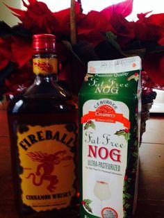 Fireball Cinnamon Whiskey & Egg Nog