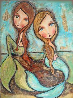 """Mermaids"" Patti Ballard   Fantasy Fabrics"