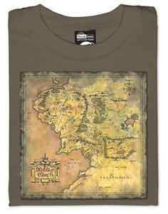 ThinkGeek :: Map of Middle Earth