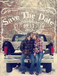 Save the date Jack Daniels style @Julie Schrotenboer