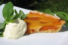 Tarte Aux Abricots - Glazed French Apricot Tart With Almonds. Photo by The Flying Chef