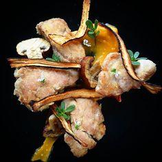 Ris de veau croustillants embeurrée de patates douces chips de salsifis.... #menubistronomique #bistrinomie #risdeveau #salsifis #patatedouce #Food #Foodista #PornFood #Cuisine #Yummy #Cooking