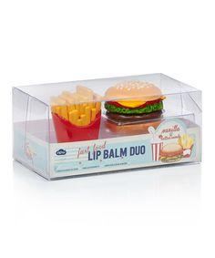 Look at this #zulilyfind! Burger & Fries Lip Balm Set by NPW #zulilyfinds