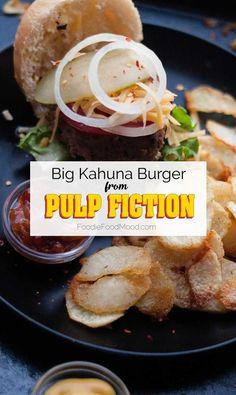 Pulp Fiction's Big Kahuna Burger #hamburger #foodfrommovies #pulpfiction #bigkahunaburger | FoodieFoodMood.com