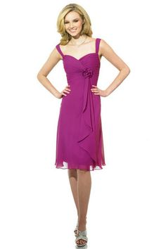Pretty Bridesmaid dress. Not sure about the flower, but I like how simple the dress is.