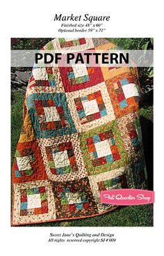 Market Square Downloadable PDF Quilt Pattern Sweet Jane's Quilting and Design - Fat Quarter Shop