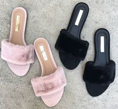 Step up your slide game with these fur babies 😍 Shop DAYLA via the link in our bio Slide Sandals, Flat Sandals, Your Shoes, Women's Shoes, Fashion Stylist, Baby Shop, Designer Shoes, Spring Fashion, What To Wear