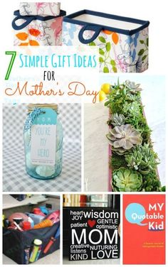 7 Simple Gift Ideas for Mother's Day! -- Tatertots and Jello for eBay (spon)