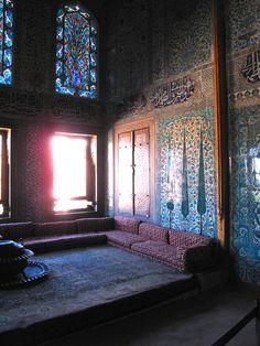 The Harem at Topkapi Palace, Istanbul (photo by Justina Blakeney).  Soft natural light.