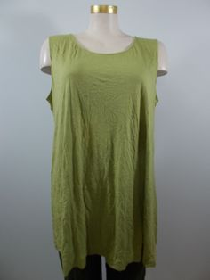 Chalet - Crinkle Sprout Solid Long Liz Tank
