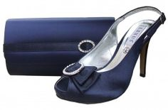 Lexus Stephanie Navy Evening Shoes