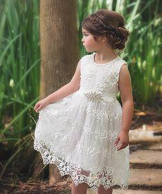Another great find on #zulily! White Bella Brianna Dress - Infant, Toddler & Girls #zulilyfinds