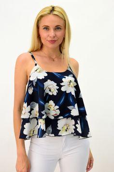 Γυναικείο τοπ φλοράλ | POTRE Floral Tops, Tank Tops, Collection, Women, Fashion, Moda, Women's, Fasion, Crop Tank