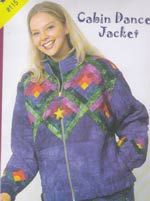 Cabin Dance Jacket Pattern with log cabin blocks on the bodice and sleeves. http://www.kayewood.com/item/Cabin_Dance_Jacket_Pattern/399 $12.00