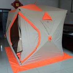 91.15$  Watch now - http://aliwmp.worldwells.pw/go.php?t=32486718011 - ice fishing tent igloo cold wind warm spell color thick with ice nail ice tent rope