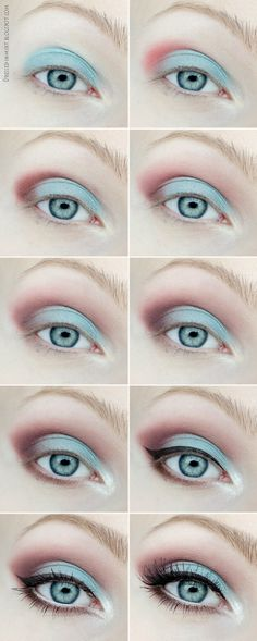 Dressed in Mint: eye make up. - Spring Laguna (step by step) Visit our online store here