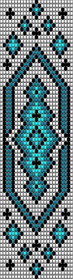 Resultado de imagen para patrones telar para hacer cintos y pulseras de chaquira