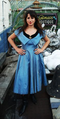 Vintage Early 1950s Glamorous Satin Party by sustainablewearable