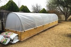 Turning a raised garden bed into a greenhouse is a great way to garden year round. See how…