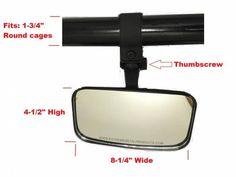 EMP UTV Rearview Mirror Fits: Polaris RZR, Ranger, Gator, Rhino (P/N: 13012-12336)