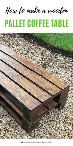 If you want to know how to make a wooden pallet coffee table for your living room then check this article out. Easy, one pallet project with step by step instructions that can be done in one afternoon. Click to learn more. Diy Home Decor Easy, Diy Home Decor Projects, Diy Pallet Projects, Upcycling Projects, Furniture Projects, Wooden Pallet Coffee Table, Wooden Pallets, Pallet Tables, Coffee Tables