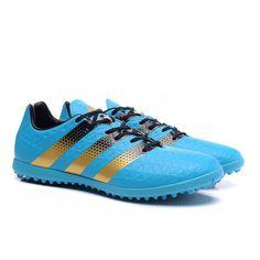 Adidas ACE - Chuteira Futsal Adidas Homens ACE 16.3 Turf Azul Dourado Preto 1917b66f9bfc1