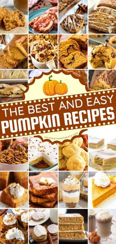 The Best Pumpkin Recipes are perfect for fall! We have gathered tons of recipes for breakfast, dessert, snacks, and more to enjoy this pumpkin season. They're the best fall recipes! Best Pumpkin, Baked Pumpkin, Good Food, Yummy Food, Tasty, Recipe Using Pumpkin, Savory Pumpkin Recipes, Fall Recipes, Yummy Recipes