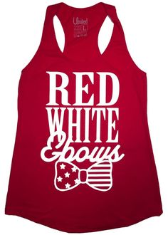 'Red, White, and Bows' Racerback Tank Top – United Tees