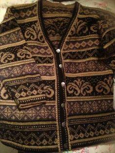 stranded cardigan sweater