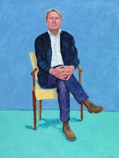 Louver gallery presents: David Hockney: Painting and Photography including works by David Hockney. David Hockney Portraits, David Hockney Paintings, Peter Blake, David Hockney Artist, Gary Wood, Pop Art Movement, Portrait Art, Portrait Paintings, Portrait Ideas
