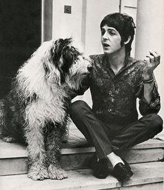 "indypendentmusic: ""Paul McCartney a jeho pes, Martha"""