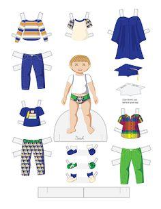 Paper Doll School: Toddler Fashion Friday - Noah