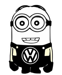 Minion VW Volkswagen Despicable Me Vinyl Car by customsticker