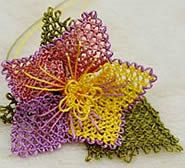 This is a form of needle lace that is Turkish Lace called Oya.  Its very pretty.
