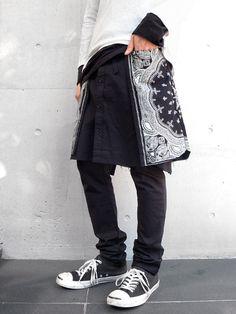 Bandana snap wrap skirt 01 of 02