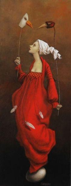 Pinzellades al món: Realitat i somnis: il·lustracions de Catherine Chaloux… Figure Painting, Painting & Drawing, Art Fantaisiste, Illustrator, Johannes Vermeer, Surrealism Painting, Magic Realism, Whimsical Art, Surreal Art