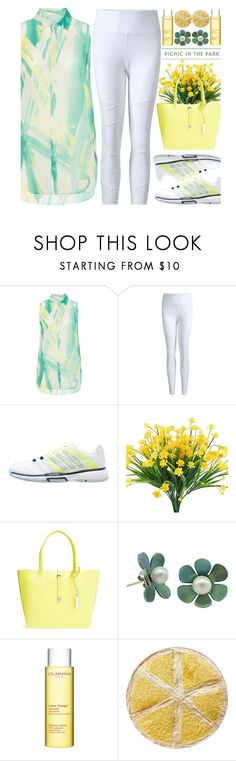 """""""Picnic in the Park"""" by house-of-the-black-smith ❤ liked on Polyvore featuring adidas, Vince Camuto and Clarins"""