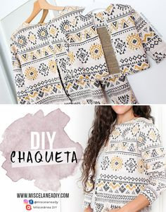 56 Ideas Diy Ropa Mujer Ideas Manualidades For 2019 Diy Clothes Patterns, Dress Sewing Patterns, Sewing Clothes, Diy Mode, Diy Wardrobe, Diy Sewing Projects, Sewing Hacks, Diy Fashion, Fashion Design