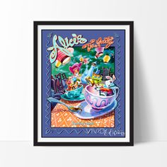 Our Vintage Disneyland Attraction Posters are high-quality digital reproductions of the original, displaying sharp vivid images with a high degree of color accuracy. This allows us to print in much larger sizes you will NOT find anywhere else! These posters represent the best of both worlds: quality and affordability and will make an attractive wall piece for your home or office.