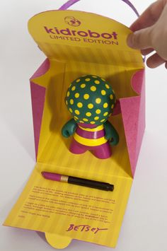 Packaging of the World: Creative Package Design Archive and Gallery: Betsey Johnson Limited Edition KidRobot (Student Project)
