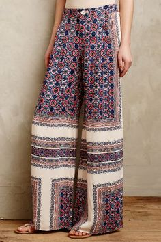 Yida Printed Wide-Legs - anthropologie.com