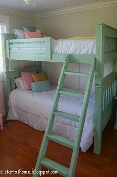 DIY Bunk Bed built from Ana White's Plans.