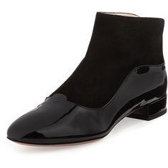 Giorgio Armani Patent/Suede Ankle Boot